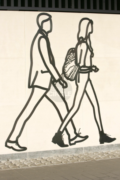 Julian Opie's art wall, citizenM hotel