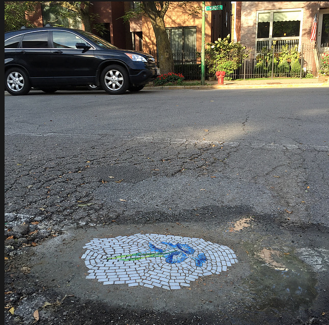Pothole mosaic by Jim Bachor