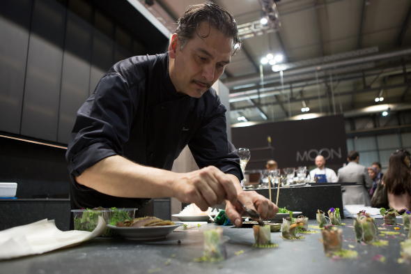 Neolith Calacatta Gold features in Italo Bassi's new ConFusion restaurant