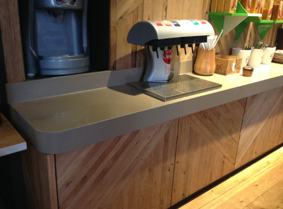 Silestone Toffee countertop, Nando's Bayswater