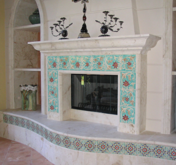 Mizner Fireplace