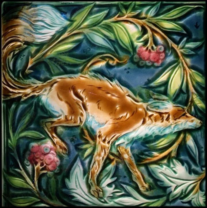 Running Fox by Mary Philpott, Verdant Tile Studio