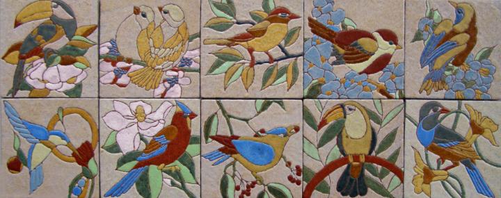 Bird designs by Frauwein Soenveld, Atelier Het Blauwe Hek