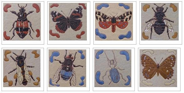Insect designs by Frauwein Soenveld, Atelier Het Blauwe Hek