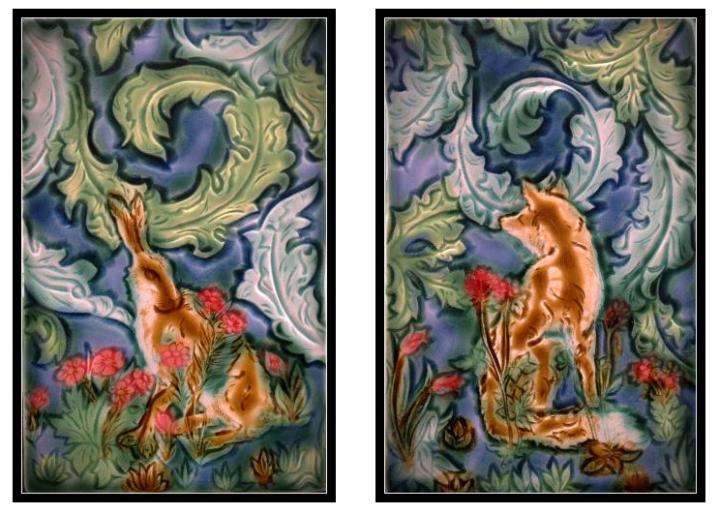 Tile designs by Mary Philpott, Verdant Tile Studio