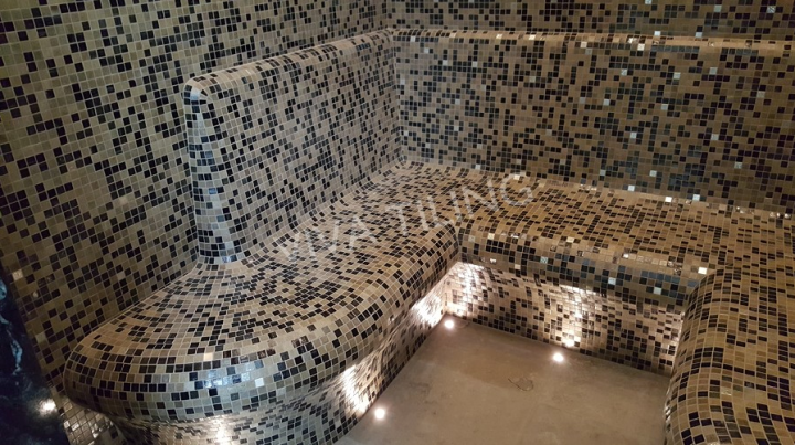 Installation by Tiler of the Year 2017, Sharon Taylor, Viva Tiling