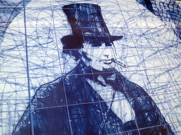 Brunel Mural, Westway, by Robert Dawson (detail)