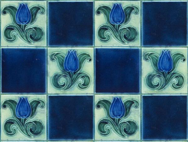 Art Nouveau tiles by Almaviva
