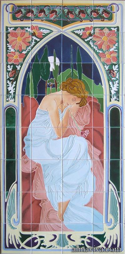 Art Nouveau Tile by Almaviva