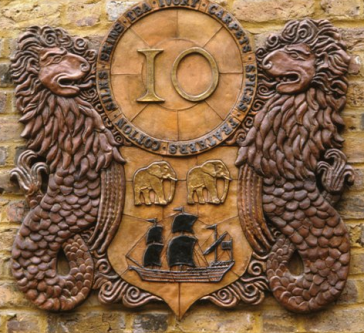 East India Company Crest Cartouche, 1986
