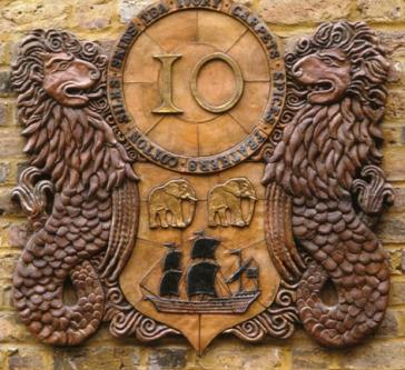 East India Company Crest Cartouche, 1986