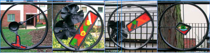 Four more roundels from Magnolia Court, Wolverhampton, 2007.