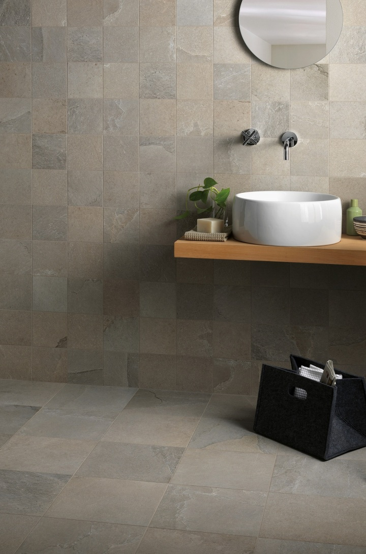 Edenrock Stratus, in both 150 by 150 and 300 by 300mm, by Isla Tiles.