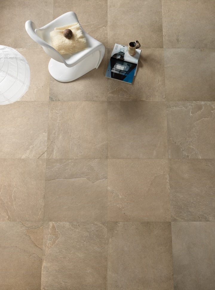 Edenrock Blond, in 600 by 600mm, by Isla Tiles.