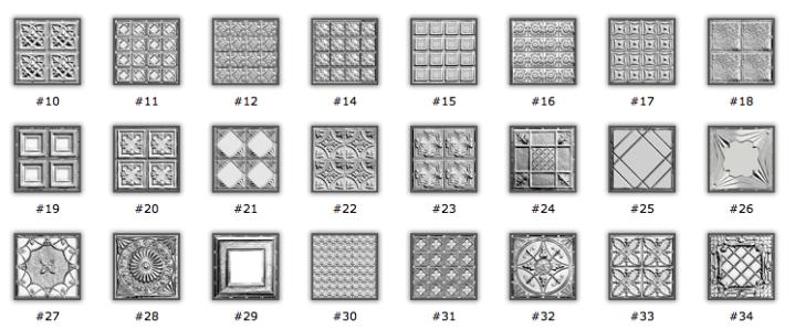 Tin tile design by Brian Greer