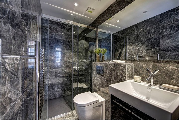 Grey St Laurent from Caesar's Anima range in the main bathroom