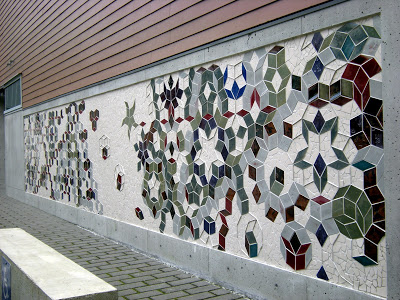 Tessellation Tango mural at The Mathematical Sciences Research Institute