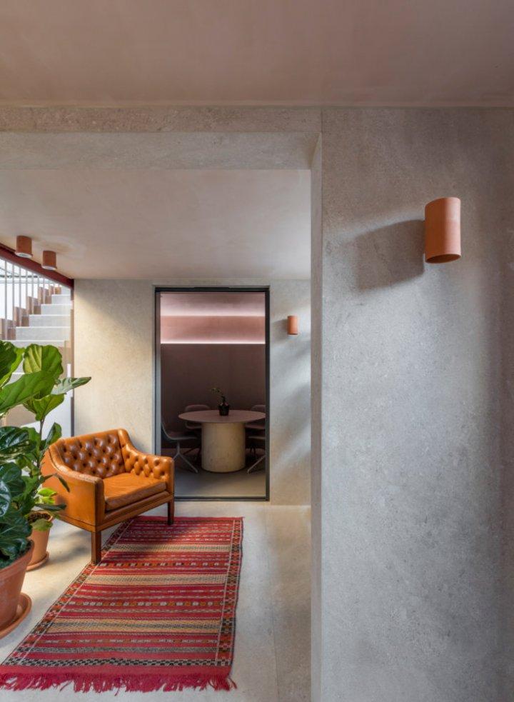 Pentagon Tiles' Leather Lane showroom, designed by architect Simon Astridge