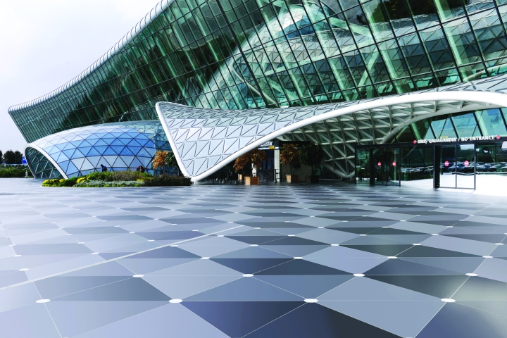 Dekton flooring at Baku Heydar Aliyev International Airport, Azerbaijan