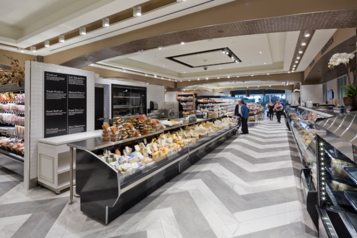 Pusateri's fine foods chain by GH+A Design with tiles by Ceragres.