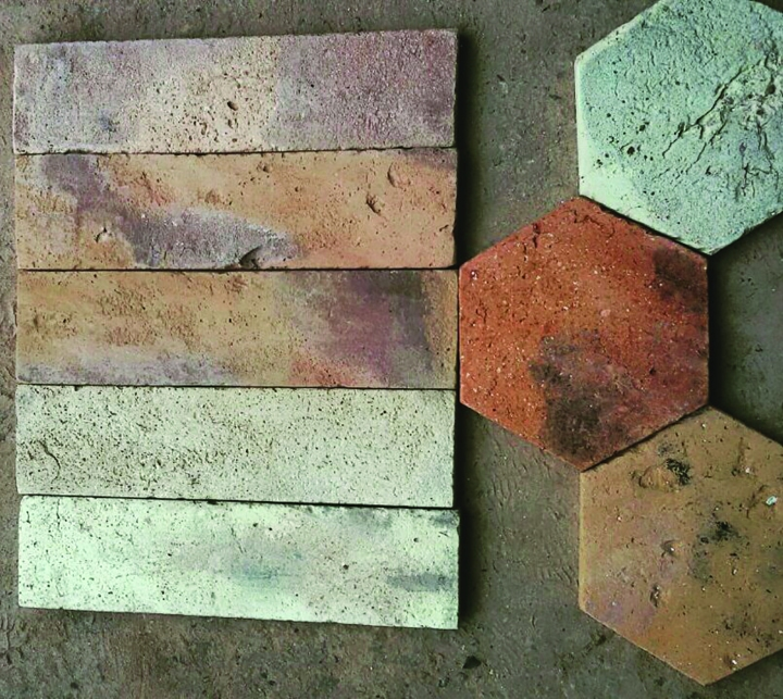 Sample tiles from Serbia's Terracotta Flooring