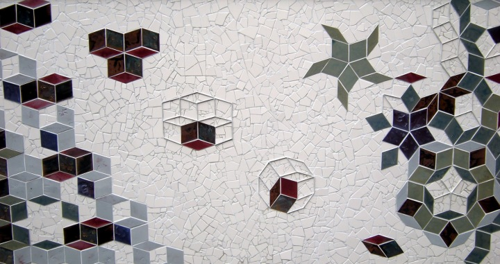 Tessellation Tango tile mural