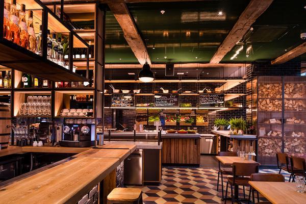 Alhambra Tiles at Ricker Restaurants' Stoke House