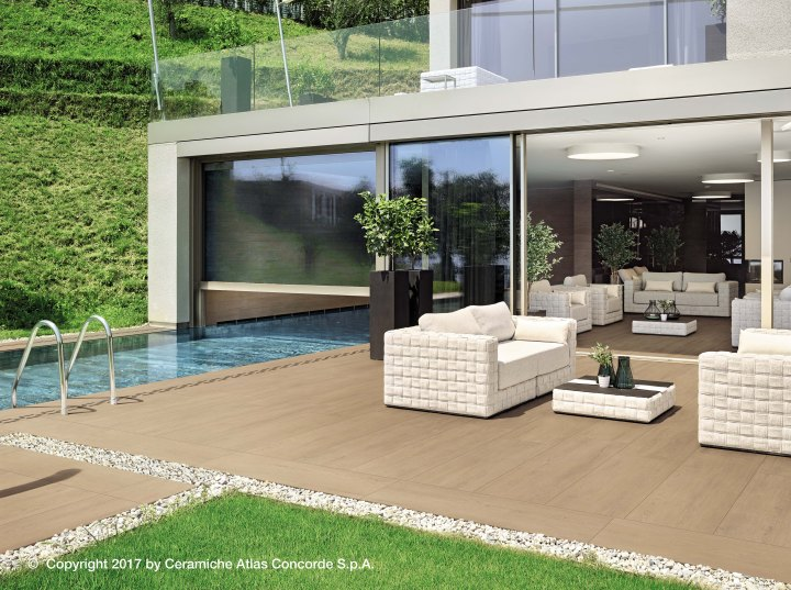 Nid 20mm Lastra exterior tiles by Atlas Concorde