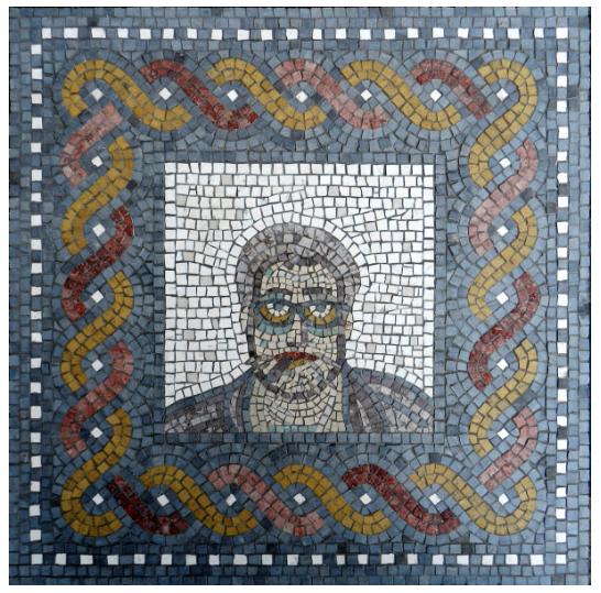 David: Helen Miles' mosaic portrait of her husband
