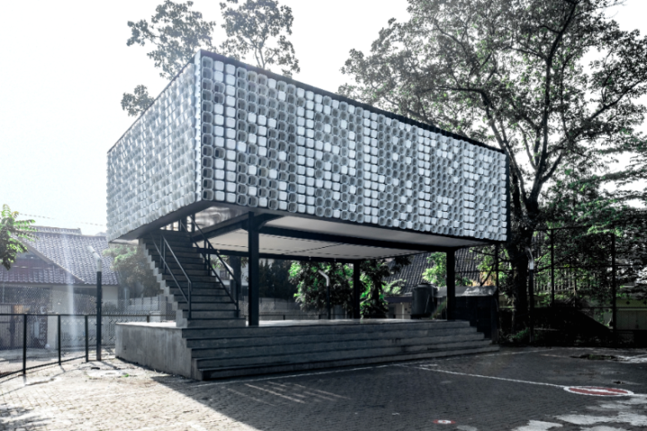Microlibrary Bima: the 2000 Ice Cream Bucket Project, Indonesia by SHAU architects