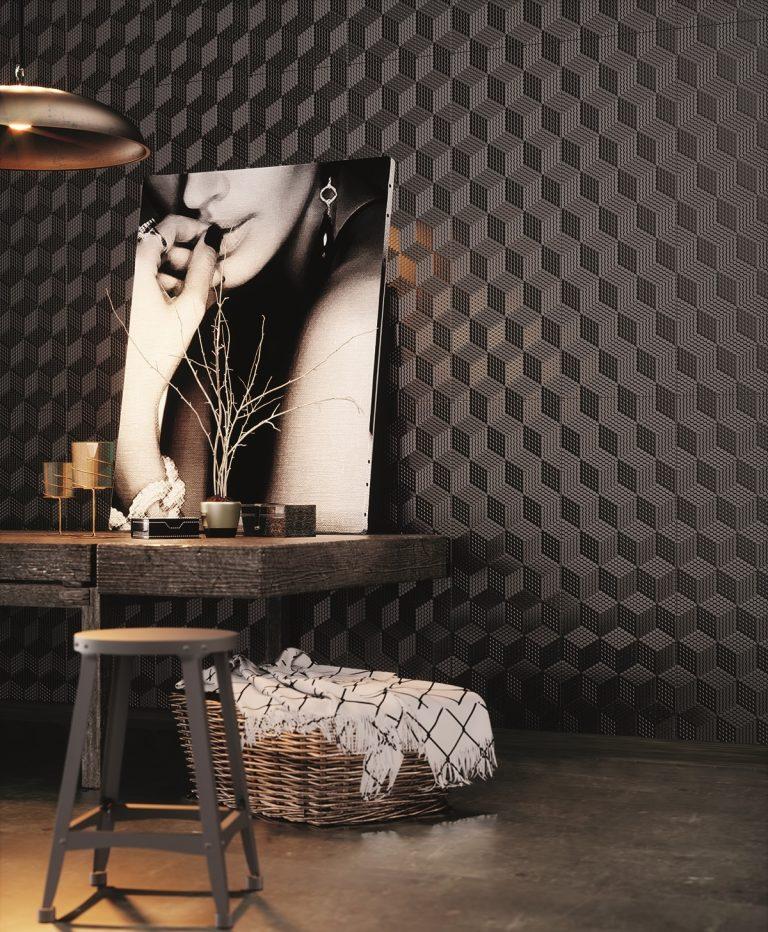 Yurtbay Seramik's award-winning Cube wallcovering