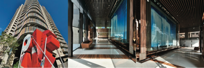 Marazzi tiles in the Jade Residence, Taipei, designed by Ke Hung Tsung and Yao Len Lu.