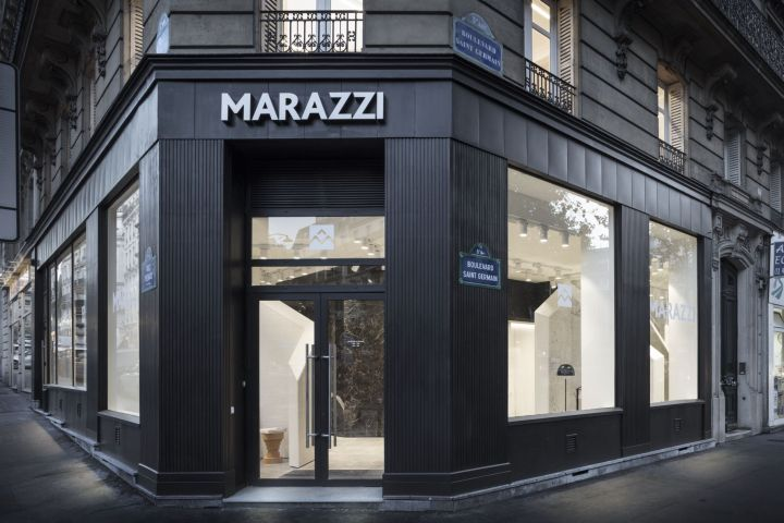 The new Marazzi showroom at 63 Boulevard Saint-Germain, Paris