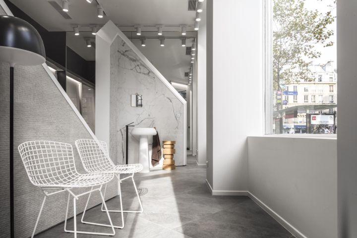 The new Marazzi showroom at 63 Boulevard Saint-Germain, Paris