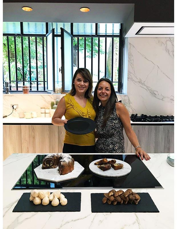 Fellow blogger Marmolove in  Sonia's Factory with Sonia Peronaci!