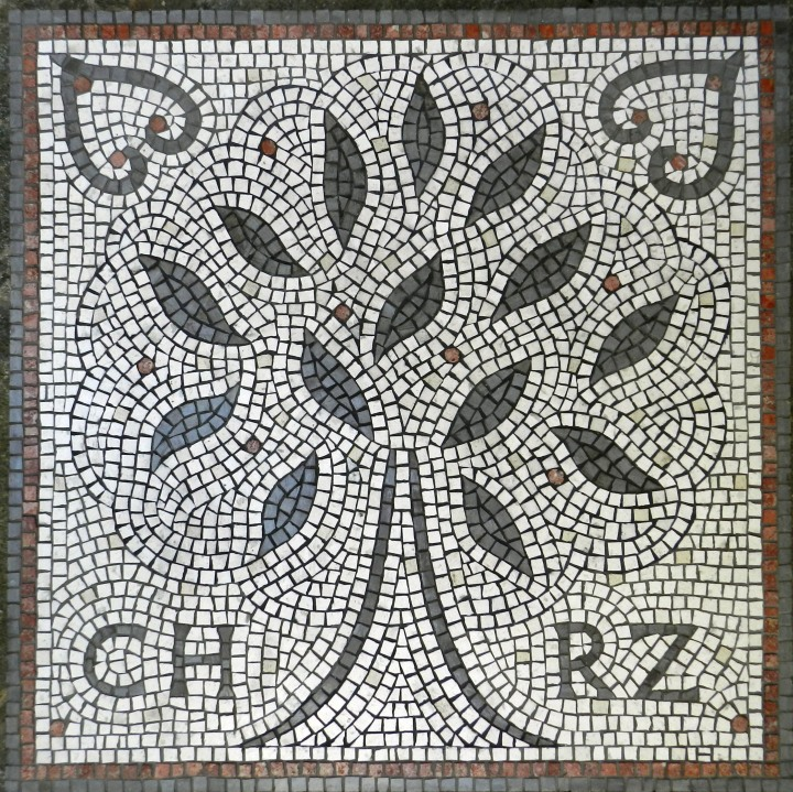Wedding mosaic by Helen Miles