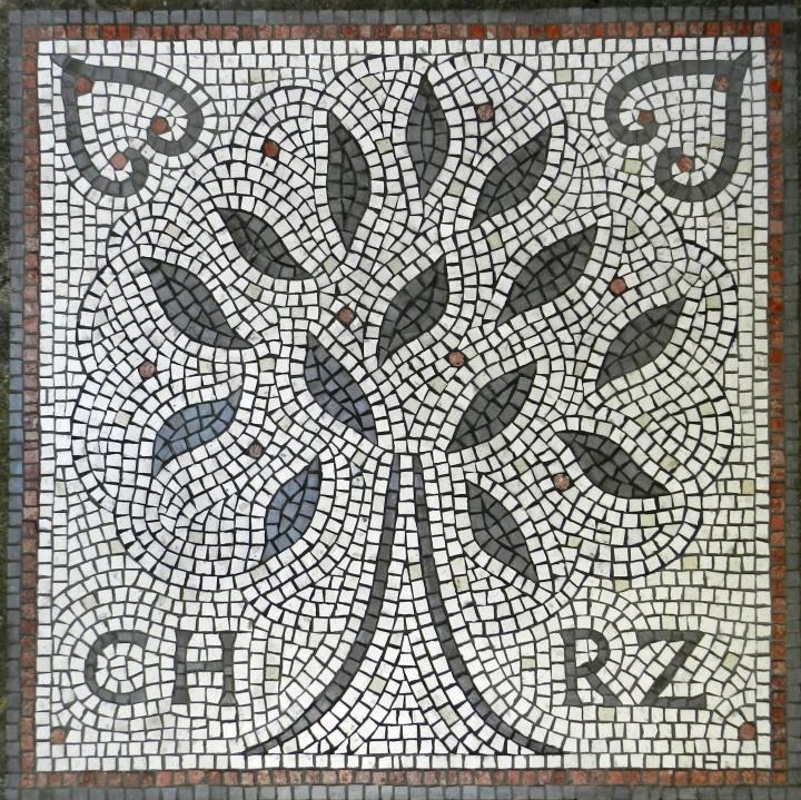 Wedding mosaic by Helen Miles