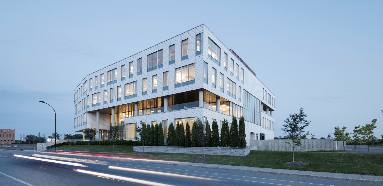 OIIQ in Montréal's Angus Technopôle features HT ventilated ceramic cladding