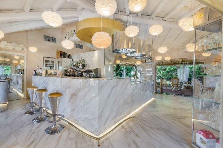 Italo Bassi's Confusion Porto Cervo features Neolith surfaces