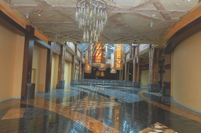 Waterjet stone floors at the Mohegan Sun Casino, USA