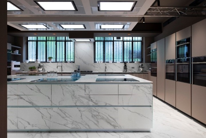 Sonia's Factory features Neolith surfaces by TheSize.