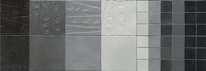 Abitare la Terra by Cerasarda: Sulcis; two blacks and four tones of grey