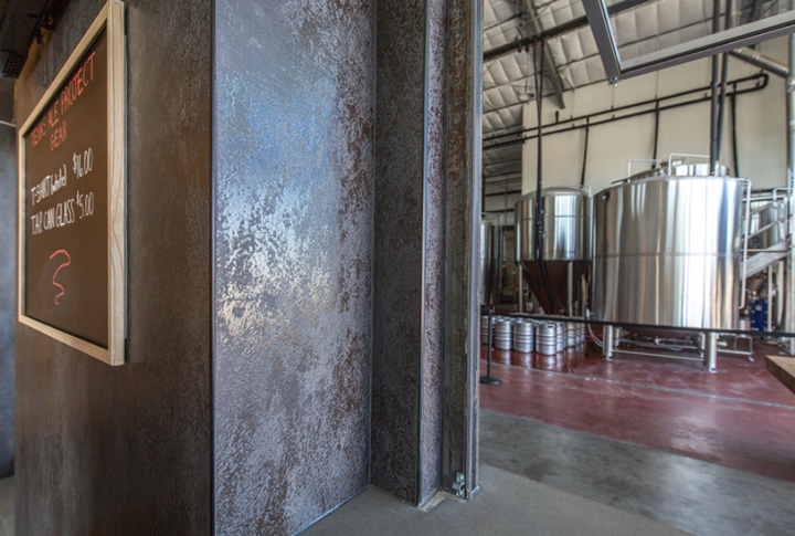 Texas Ale Project features tiles and Laminam sheets from Crossville.