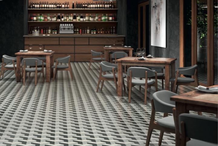 Venezia Lido Lappato floor tiles, 297.5 by 297.5mm. by Aparici