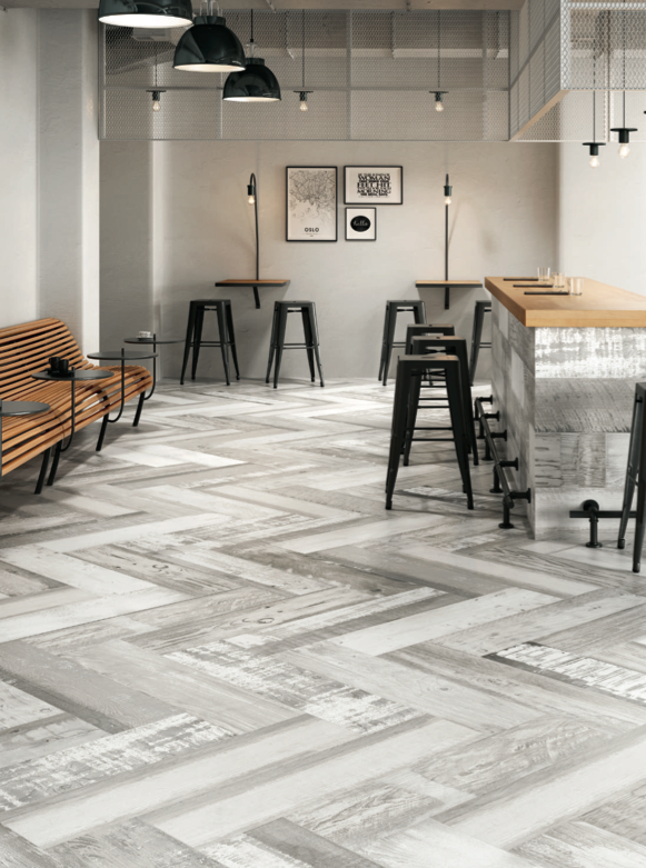 Chalkwood White Natural floor and wall tiles by Aparici