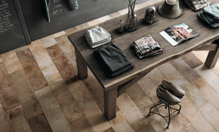 Terre Rosso Natural floor tiles by Aparici