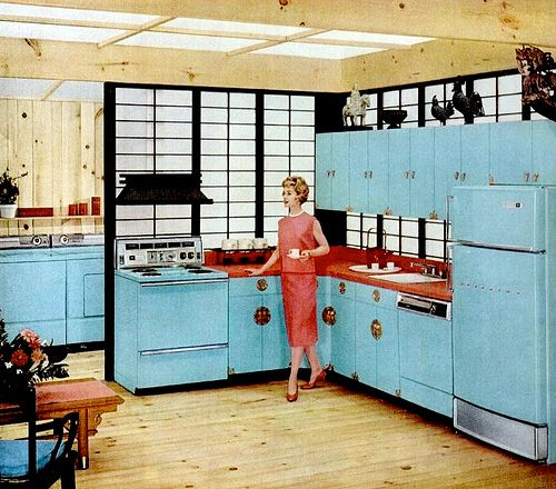 An iconic 1950s interior: the Baby Blue kitchen