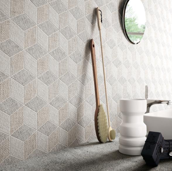 Fineart Hexagon Mix Dark by Ceramica Sant'Agostino
