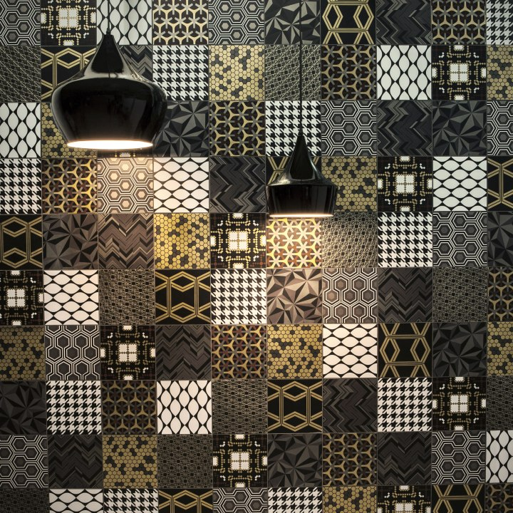 Patchwork Black by Decortiles