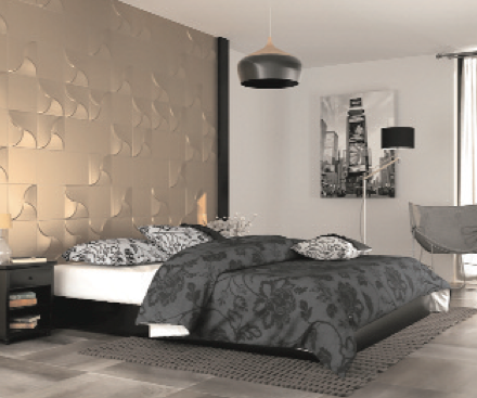 Metallic 3D tiles by Dune